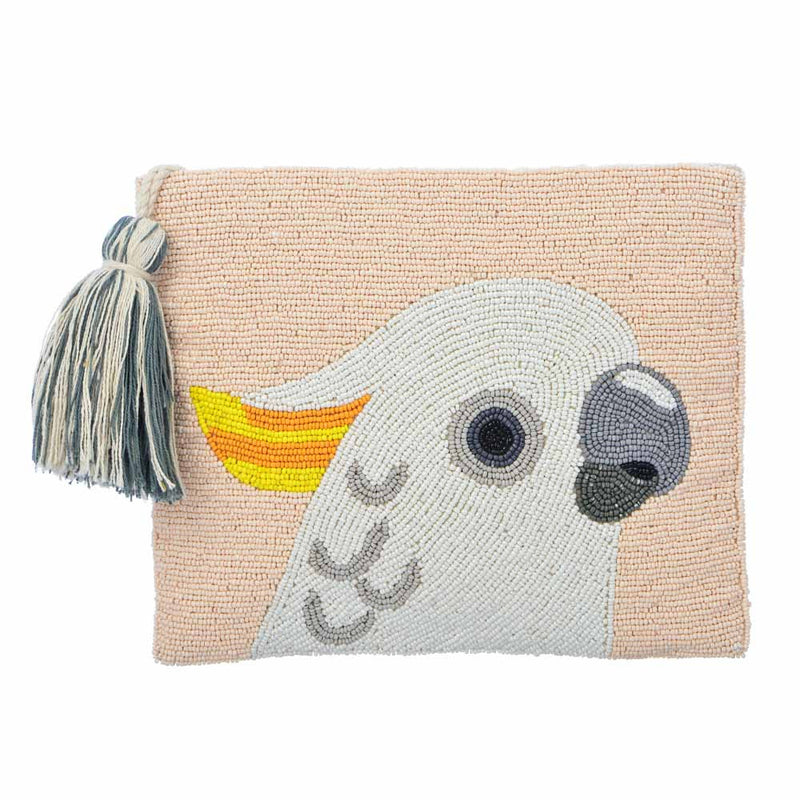 Cacatua Beaded Clutch