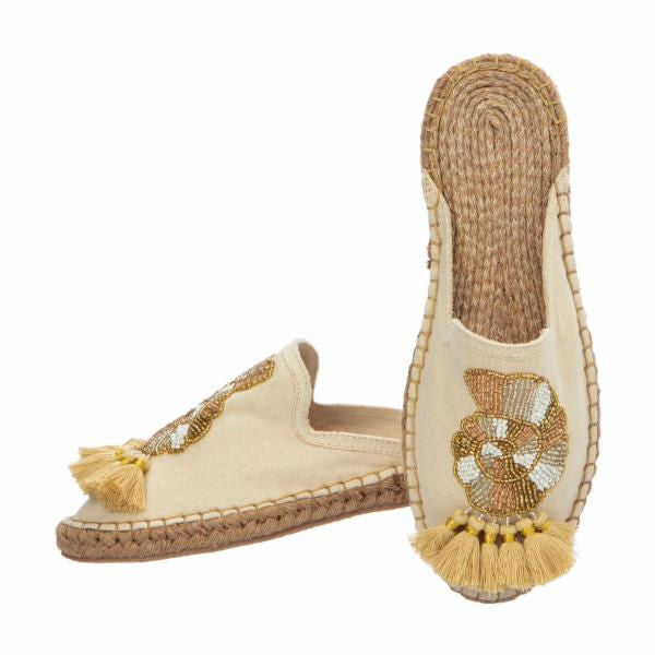SEA SHELL ESPADRILLES - GOLD