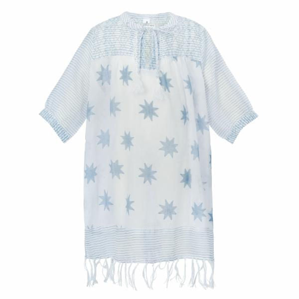 SHILOH STAR TUNIC BLUE