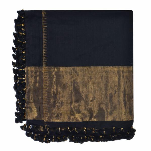 Tenley Shawl - Black/Gold