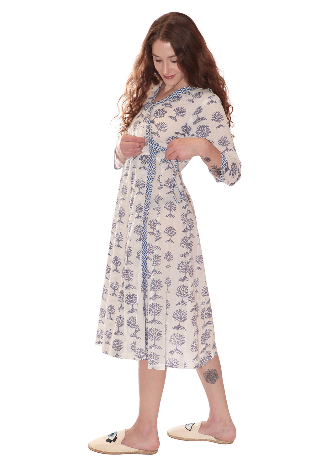 Tree Life Wrap Dress