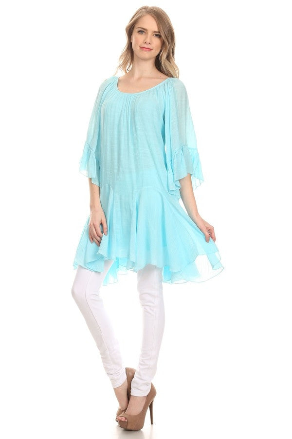 The It Girl Tunic - Pink - Sassybling - Tunic - Angel Heart Boutique  - 4
