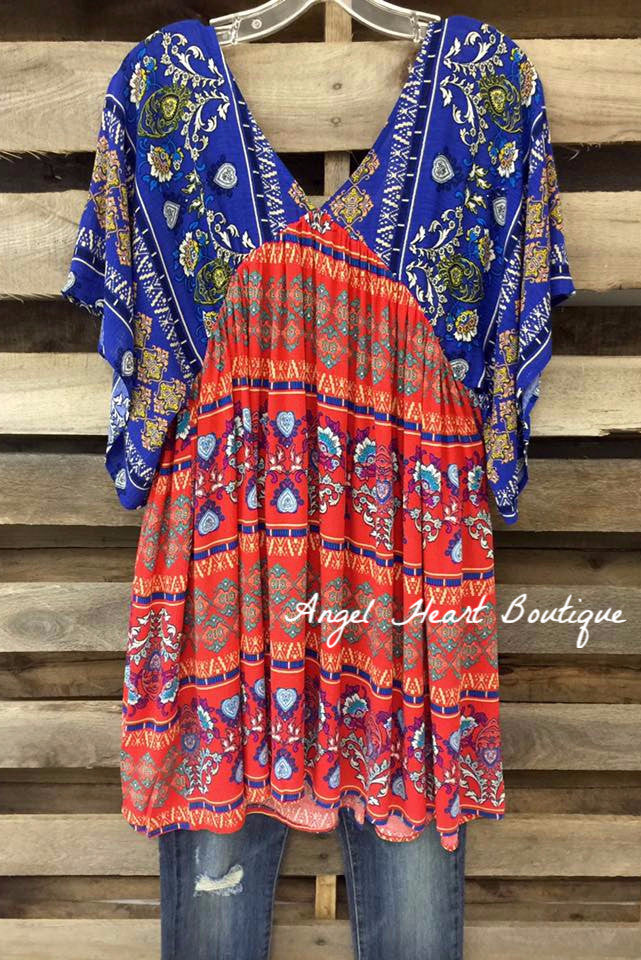 Catch Some Rays Dress - Red - Angel Heart Boutique - Tunic - Angel Heart Boutique  - 1