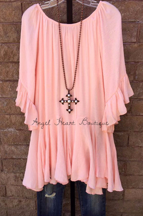 The It Girl Tunic - Pink - Sassybling - Tunic - Angel Heart Boutique  - 2
