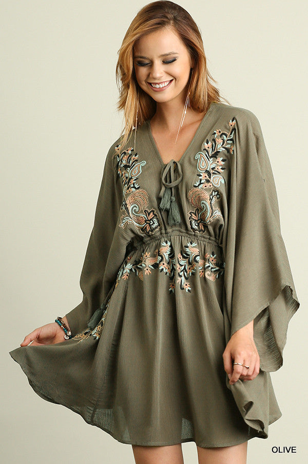 Secret Floral Dress - Olive - SALE - Umgee - Dress - Angel Heart Boutique  - 1