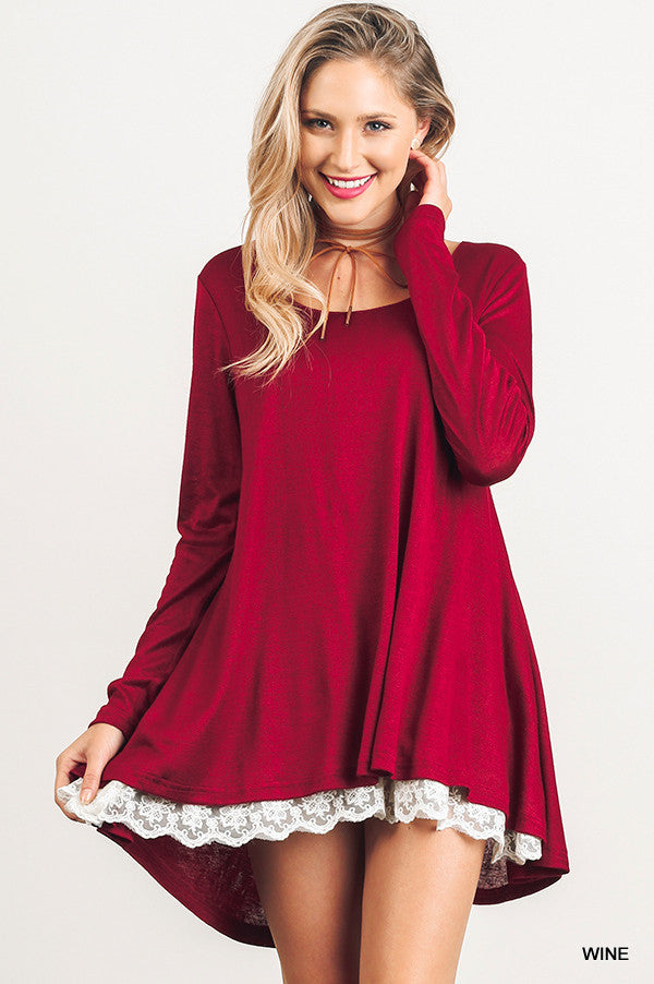 Love Like Mine Top - Wine - Umgee - Top - Angel Heart Boutique  - 3
