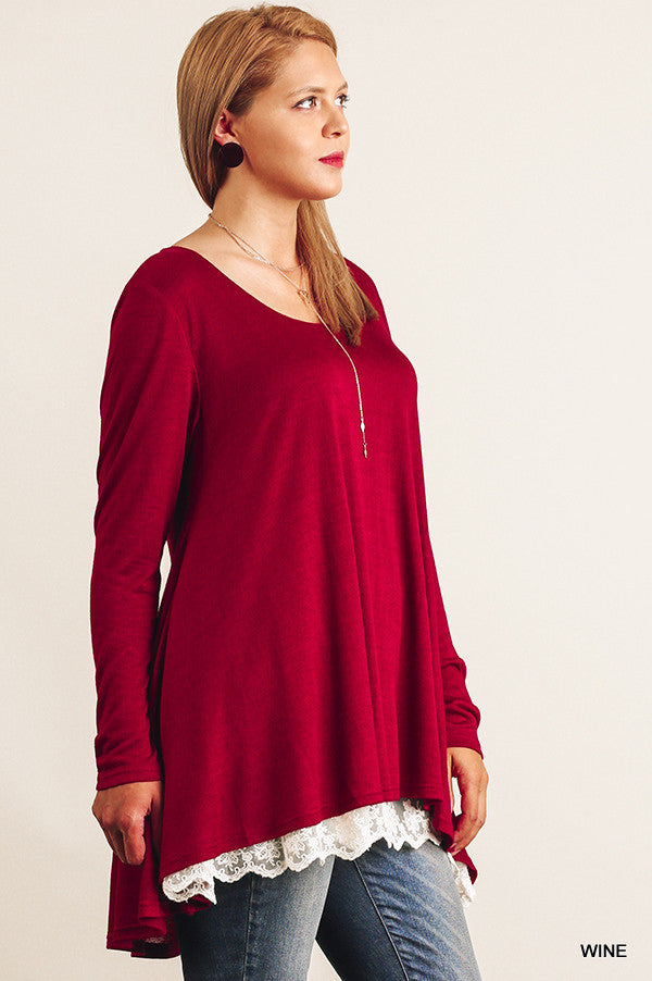 Love Like Mine Top - Wine - Umgee - Top - Angel Heart Boutique  - 6