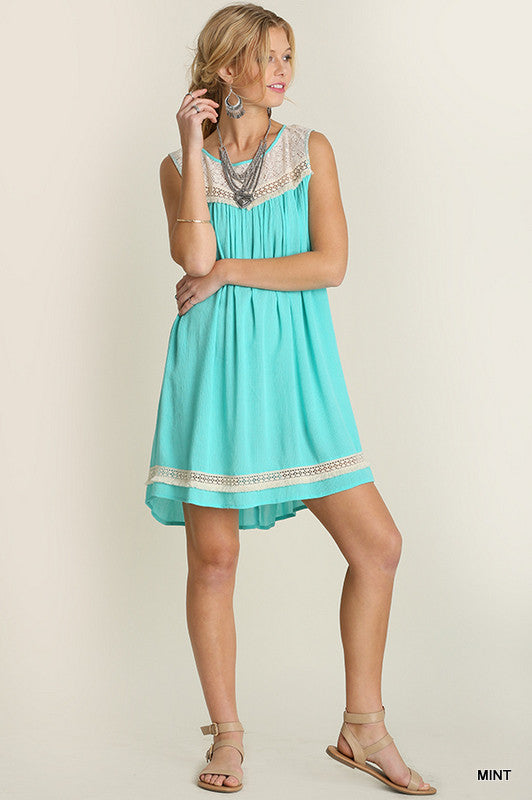 Girl's Best Friend Dress - Mint - SALE [product type] - Angel Heart Boutique