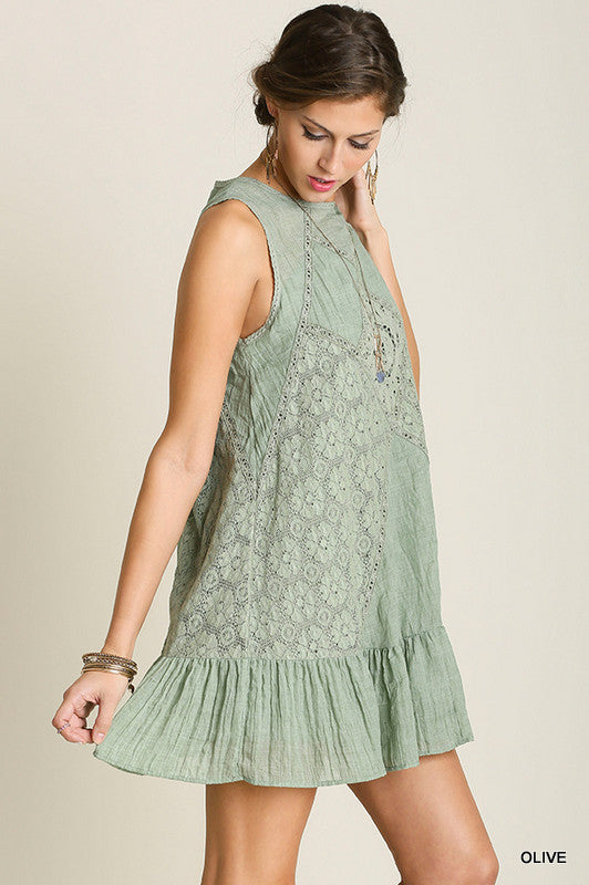 Just A Dream Dress - Olive - SALE - Umgee - Dress - Angel Heart Boutique  - 4