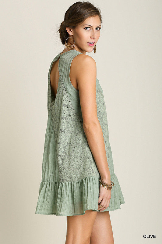 Just A Dream Dress - Olive - SALE - Umgee - Dress - Angel Heart Boutique  - 3