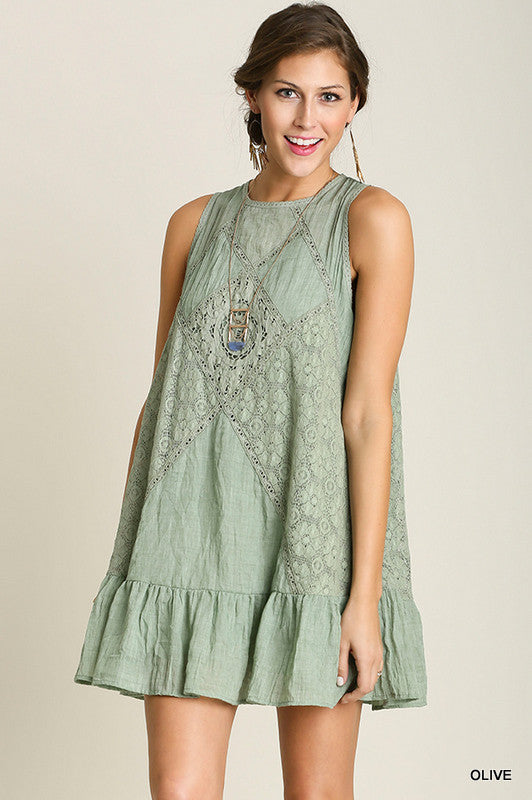 Just A Dream Dress - Olive - SALE - Umgee - Dress - Angel Heart Boutique  - 1