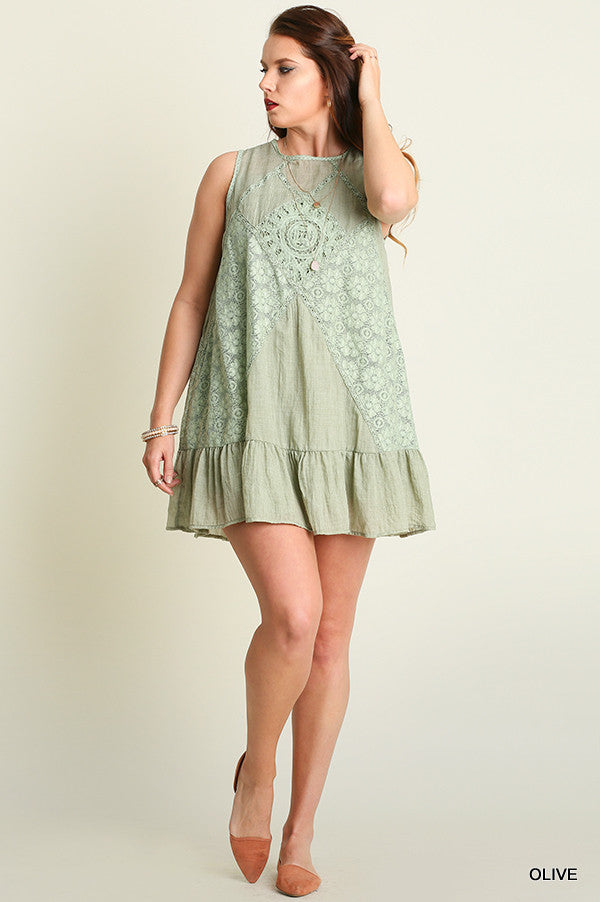 Just A Dream Dress - Olive - SALE - Umgee - Dress - Angel Heart Boutique  - 5