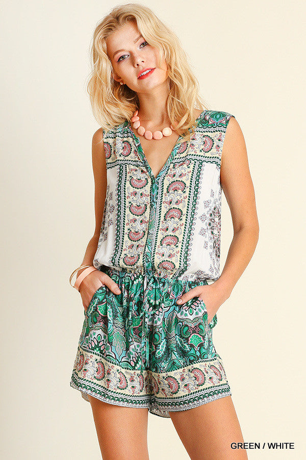 It's Your Moment Romper - Green - SALE (XL,1X) - Angel Heart Boutique -  - Angel Heart Boutique  - 2
