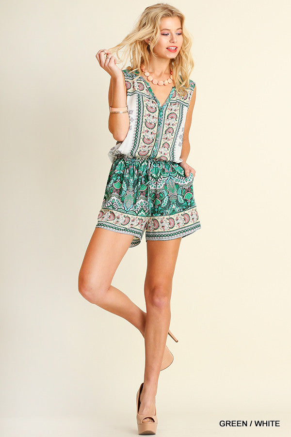 It's Your Moment Romper - Green - SALE (XL,1X) - Angel Heart Boutique -  - Angel Heart Boutique  - 1