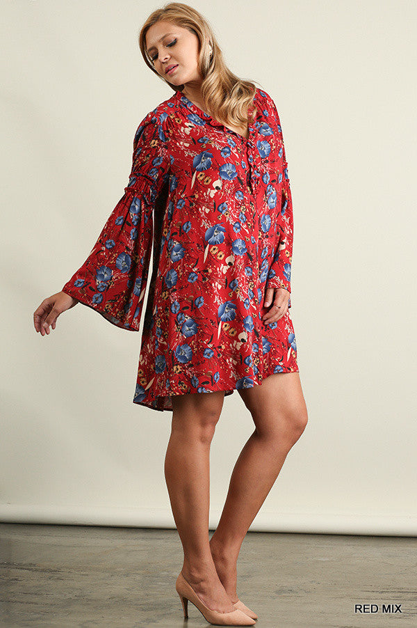 Take A Print Dress - Red - Umgee - Dress - Angel Heart Boutique  - 3