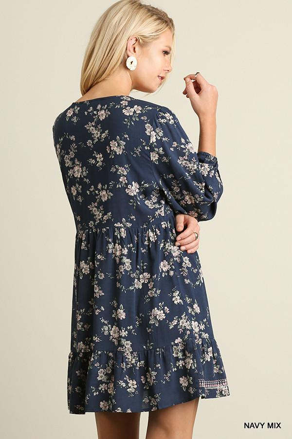 All It Takes Dress - Navy - Umgee - Dress - Angel Heart Boutique  - 4