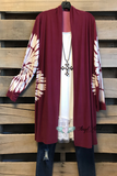 Quantum Energy Cardigan -Burgundy