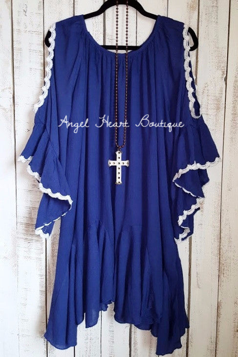 Sure To Be Cool Dress - Blue [product type] - Angel Heart Boutique