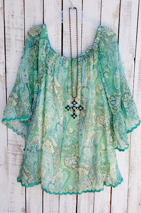 Music On My Mind Tunic - Green - Sassybling - Tunic - Angel Heart Boutique  - 2