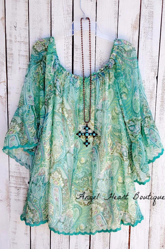 Music On My Mind Tunic - Green - Sassybling - Tunic - Angel Heart Boutique  - 1