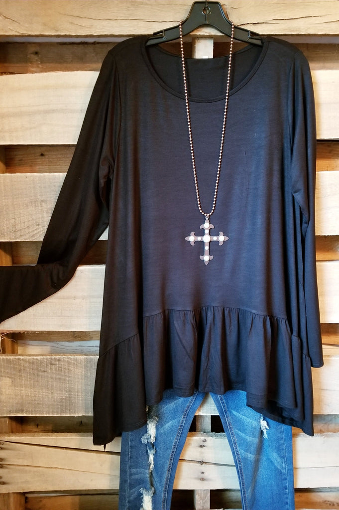 Solid Styles Top - Black [product type] - Angel Heart Boutique