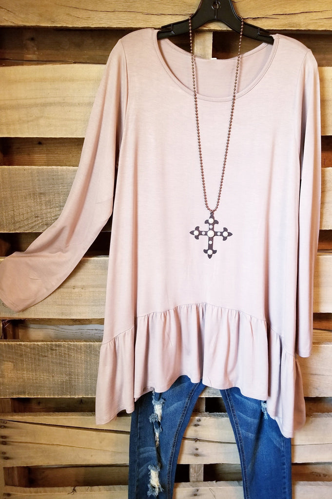 Solid Styles Top - Mocha [product type] - Angel Heart Boutique
