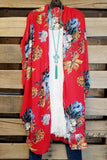 Expected Beauty Kimono - Red [product type] - Angel Heart Boutique