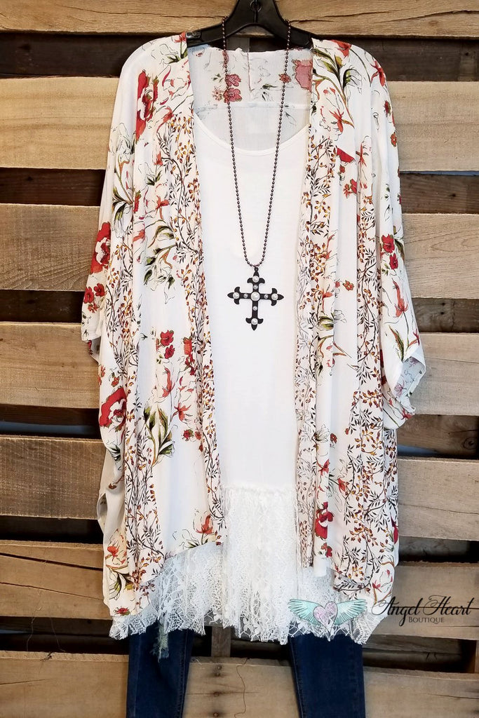 Deserts And Sunsets Kimono - Ivory [product type] - Angel Heart Boutique