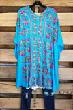 More Than Words Kimono - Aqua [product type] - Angel Heart Boutique