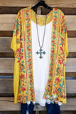 More Than Words Kimono - Goldenrod [product type] - Angel Heart Boutique