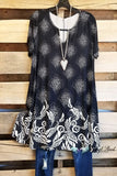 Detailed Dreams Tunic - Black [product type] - Angel Heart Boutique