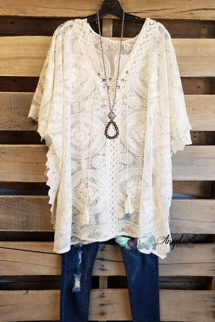 Chic Travels Tunic/Beach Cover  - Natural [product type] - Angel Heart Boutique