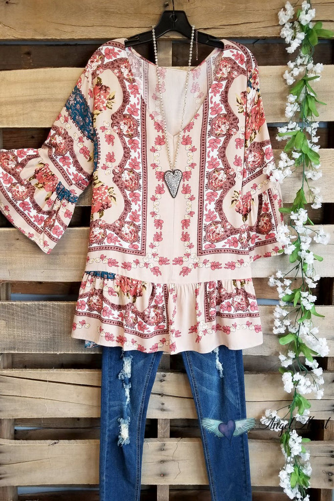 Never Give Up On Love Top - Taupe - SALE [product type] - Angel Heart Boutique