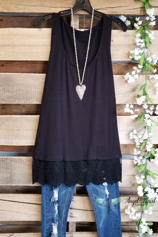 Extender: Slip on Tank/Tunic - Steel Blue