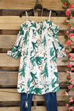 Tropical Paradise Dress - Ivory -SALE [product type] - Angel Heart Boutique