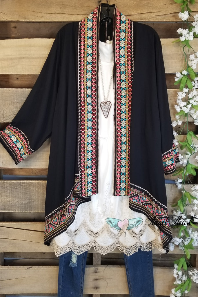 Give You A Moment Cardigan - Black [product type] - Angel Heart Boutique