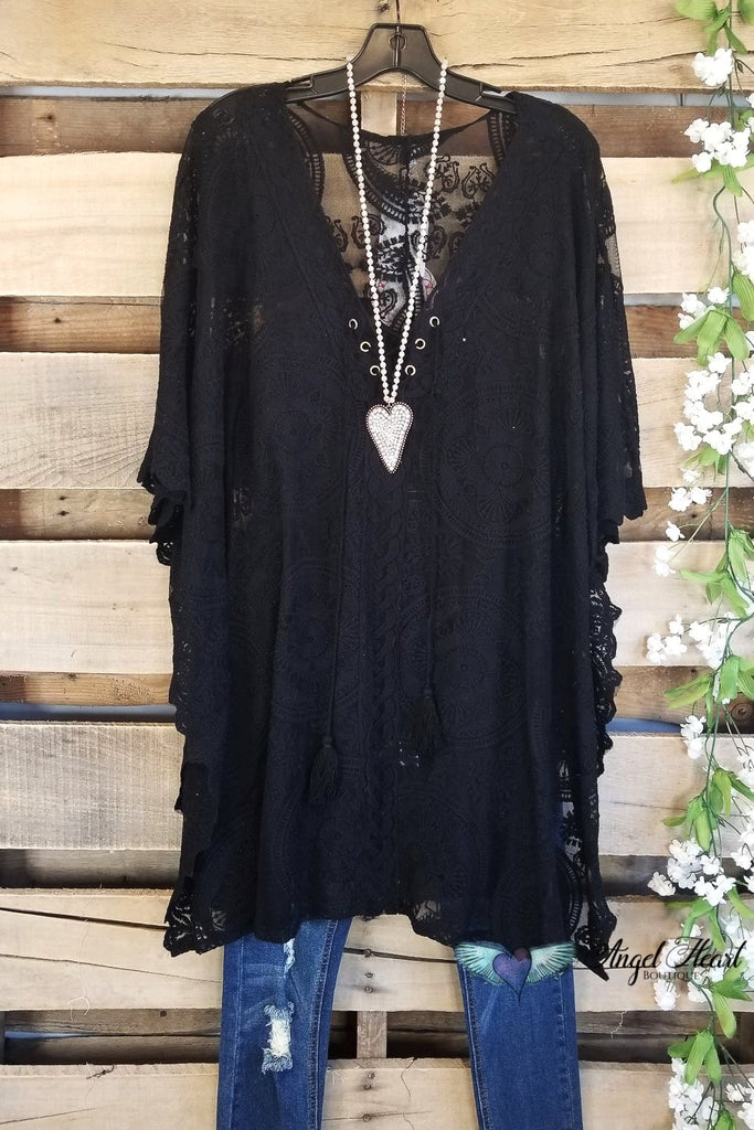 Chic Travels Tunic/Beach Cover  - Black