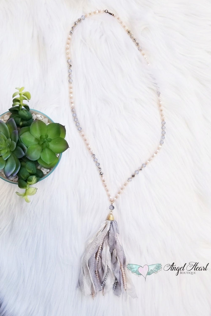 See Me Now Necklace  - Ivory [product type] - Angel Heart Boutique