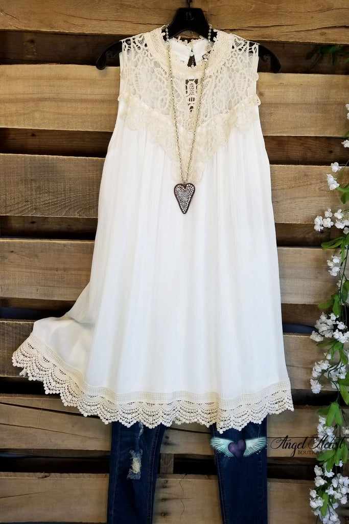 Southern Dreaming Dress - Ivory/Natural [product type] - Angel Heart Boutique