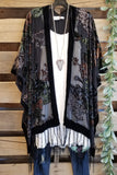 What a Beauty Kimono - Black [product type] - Angel Heart Boutique