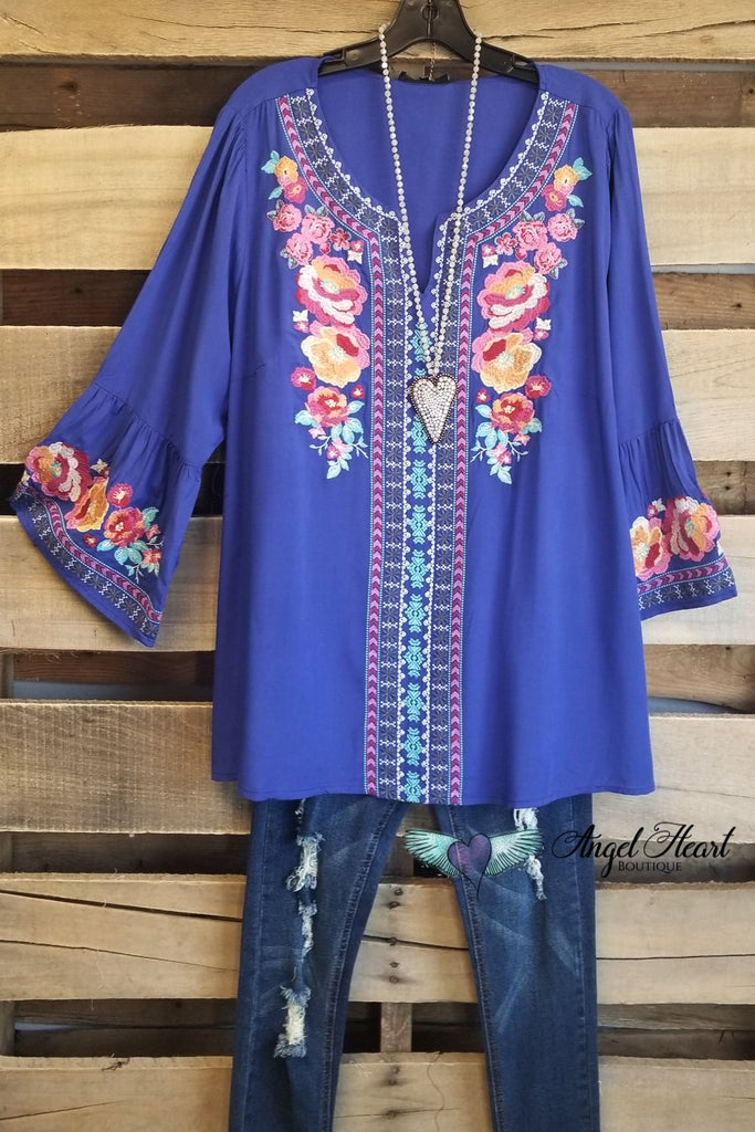 Somebody Special Top - Royal [product type] - Angel Heart Boutique