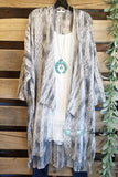 Playing Favorite Kimono - Grey [product type] - Angel Heart Boutique