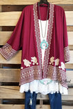 Chasing A Feeling Cardigan - Burgundy [product type] - Angel Heart Boutique