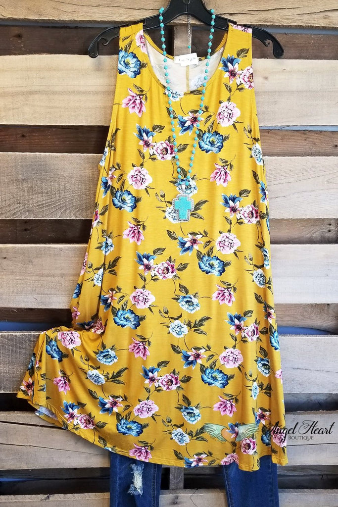 Enjoy The Day Dress - Mustard [product type] - Angel Heart Boutique