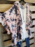 Sweet Sensation Kimono - Charcoal [product type] - Angel Heart Boutique