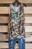 Fight For Your Love Sleeveless Top - Camo [product type] - Angel Heart Boutique