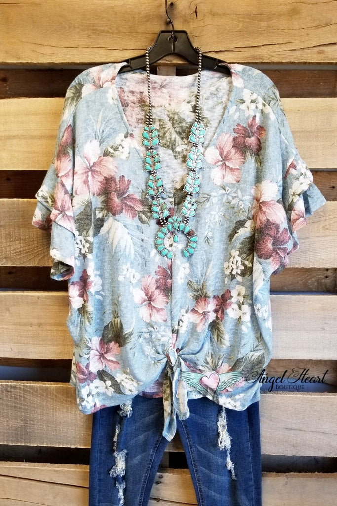Moving Towards Your Mission Top - Chambray [product type] - Angel Heart Boutique