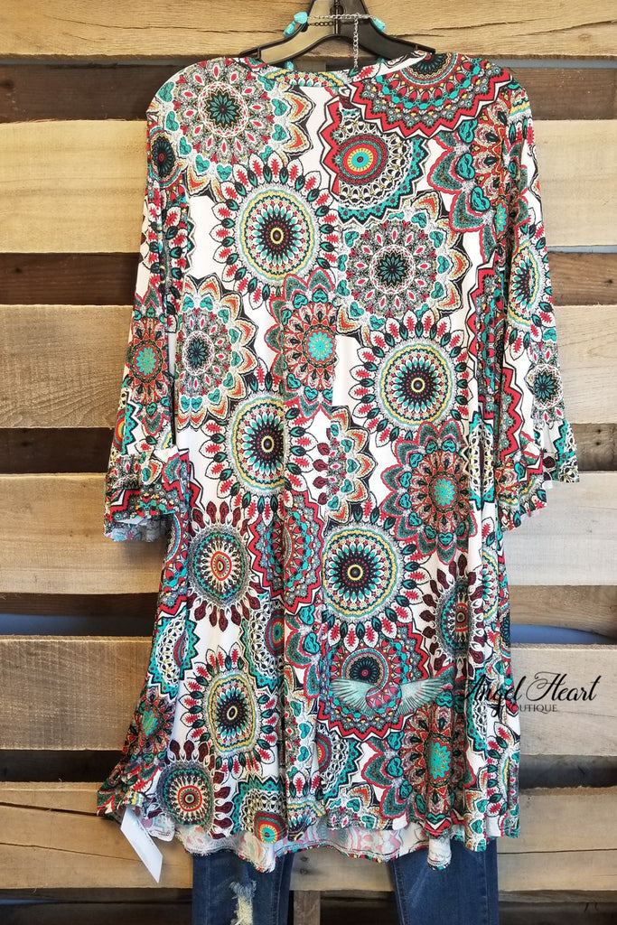 As You Flourish Tunic - White Mix [product type] - Angel Heart Boutique