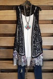 AHB EXCLUSIVE:  Magical Feeling Vest - Black [product type] - Angel Heart Boutique