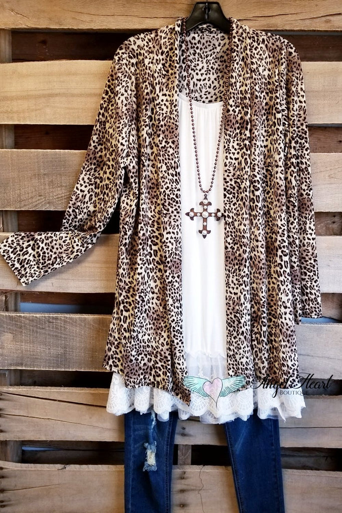 Wild At Heart Cardigan - Leopard [product type] - Angel Heart Boutique